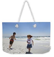 Joyful Play Of Children Weekender Tote Bag by Charles Beeler