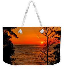 Juan De Fuca Sunset Weekender Tote Bag