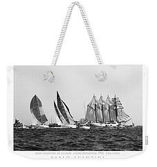 Weekender Tote Bag featuring the photograph Juan Sebastian Elcano Departing The Port Of Cadiz by Pablo Avanzini