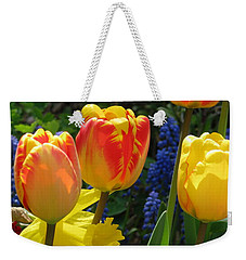 Weekender Tote Bag featuring the photograph Jubilance by Rory Sagner