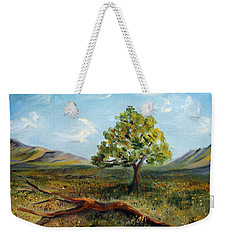Weekender Tote Bag featuring the painting Jubilant Fields by Meaghan Troup