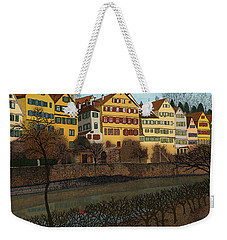 Weekender Tote Bag featuring the drawing Judith's Walk by Meg Shearer
