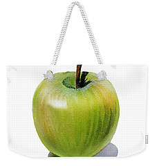 Weekender Tote Bag featuring the painting Juicy Green Apple by Irina Sztukowski