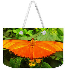 Weekender Tote Bag featuring the photograph Julia by Clare Bevan