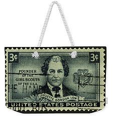 Girl Scouts Founder Juliette Gordon Low Postage Stamp Weekender Tote Bag