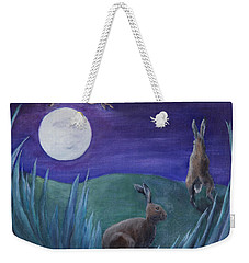 Jumping The Moon Weekender Tote Bag