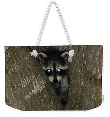 Baby Raccoon And Jesus Weekender Tote Bag