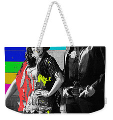 Weekender Tote Bag featuring the photograph June Carter Cash Johnny Cash In Costume Old Tucson Az 1971-2008 by David Lee Guss