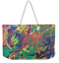 Weekender Tote Bag featuring the painting Jungle by Donald J Ryker III