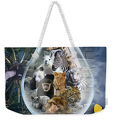 Jungle Drop Weekender Tote Bag