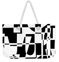 Weekender Tote Bag featuring the digital art Junk Mail by Elena Nosyreva