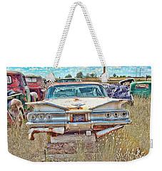 Junkyard Series 1960's Chevrolet Impala Weekender Tote Bag