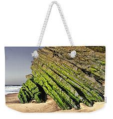 Weekender Tote Bag featuring the photograph Jurassic Coast Quiaios Beach by Menega Sabidussi