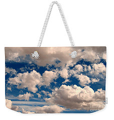 Just A Face In The Clouds Weekender Tote Bag by Janice Westerberg