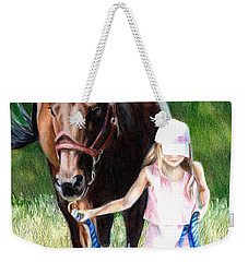 Just A Girl And Her Horse Weekender Tote Bag by Shana Rowe Jackson