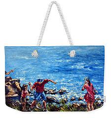Just A Pebble In The Water Weekender Tote Bag