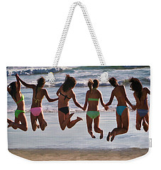 Just Jump Weekender Tote Bag by Tammy Espino