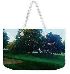 Just Off The Green Weekender Tote Bag by Daniel Thompson