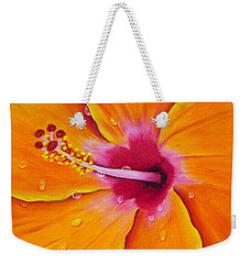 Just Peachy - Hibiscus Flower  Weekender Tote Bag