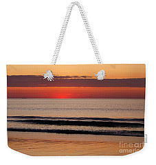Just Showing Up Along Hampton Beach Weekender Tote Bag