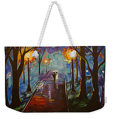 Just The Two Of Us Weekender Tote Bag by Leslie Allen