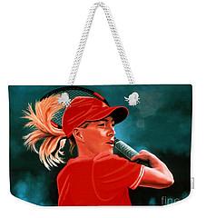 Justine Henin  Weekender Tote Bag by Paul Meijering