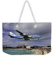 K L M Landing At St. Maarten Weekender Tote Bag