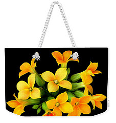 Weekender Tote Bag featuring the photograph Kalanchoe by Jim Hughes