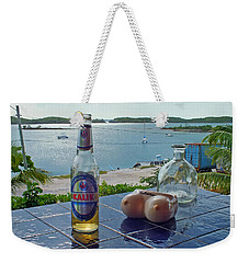 Kalik Beer Bottle At The Front Porch Weekender Tote Bag