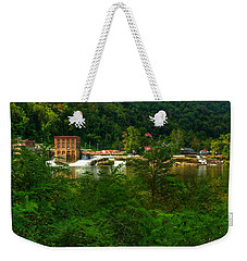 Weekender Tote Bag featuring the photograph Kanawha Falls by Dave Files