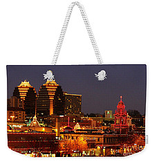 Kansas City Plaza Lights Weekender Tote Bag