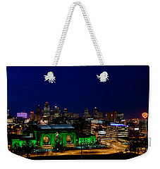 Kansas City Skyline Weekender Tote Bag by Sennie Pierson
