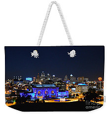 Kansas City Union Station In Blue  Weekender Tote Bag