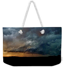 Kansas Tornado At Sunset Weekender Tote Bag by Ed Sweeney