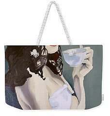 Katie - Morning Cup Of Tea Weekender Tote Bag