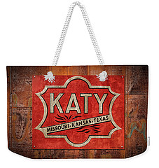 Katy Railroad Sign Dsc02853 Weekender Tote Bag
