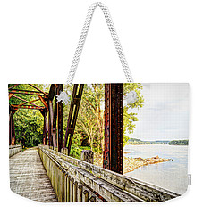 Katy Trail Near Coopers Landing Weekender Tote Bag by Cricket Hackmann