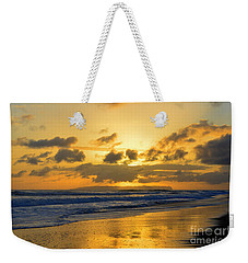Kauai Sunset With Niihau On The Horizon Weekender Tote Bag