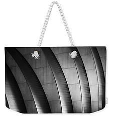 Kauffman Performing Arts Center Black And White Weekender Tote Bag