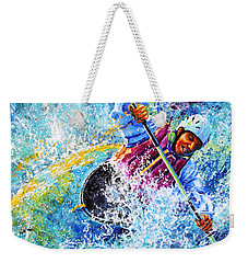 Weekender Tote Bag featuring the painting Kayak Crush by Hanne Lore Koehler