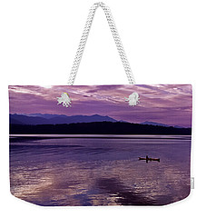 Weekender Tote Bag featuring the photograph Kayak On Dabob Bay by Greg Reed