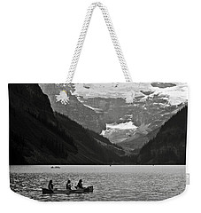 Kayak On Lake Louise Weekender Tote Bag