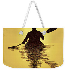 Kayaker Sunset Weekender Tote Bag
