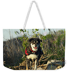 Weekender Tote Bag featuring the photograph Kayaker's Best Friend by James Peterson