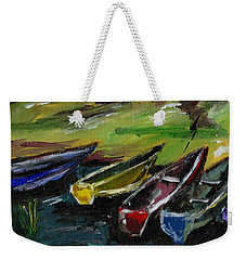 Kazinga Channel Boats Weekender Tote Bag