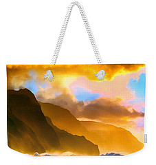 Ke'e Beach Sunset Weekender Tote Bag