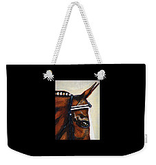 Weekender Tote Bag featuring the painting Keen by Angela Davies