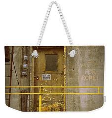 Weekender Tote Bag featuring the photograph Keep Door Closed by Joseph Skompski