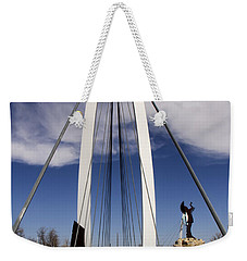 Keeper Of The Plains Bridge View Weekender Tote Bag