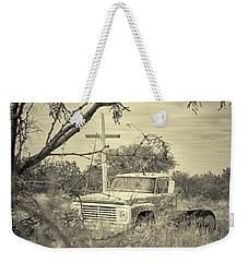 Weekender Tote Bag featuring the digital art Keeping Watch by Erika Weber
